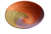 Image of Berber Raffia Woven Moroccan Basket