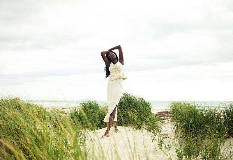 Image of Vegan Eri ( Ahimsa)  Silk  Skirt
