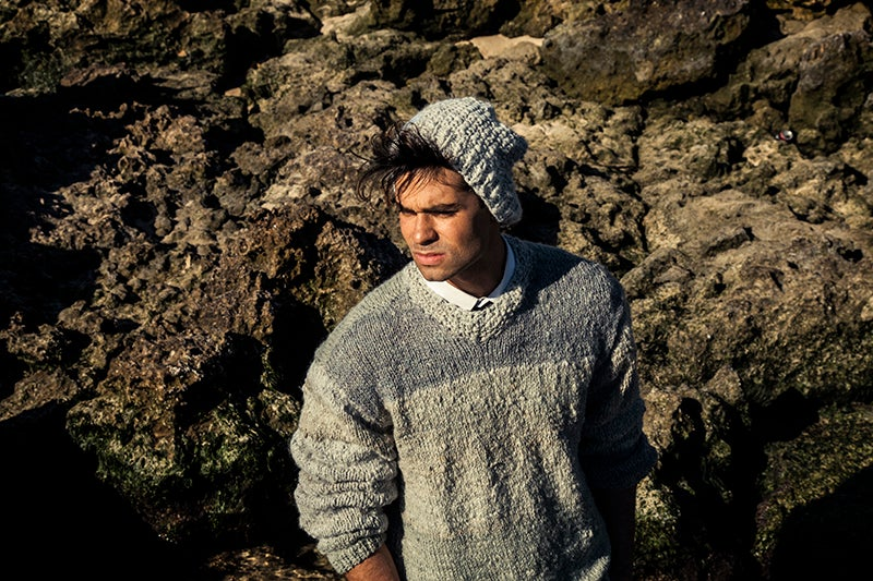 Image of Hand-knitted Alpaca Beanie
