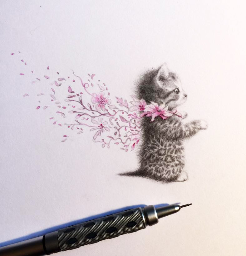 """Image of """"What are little kitties made of"""" Limited Edition Print"""