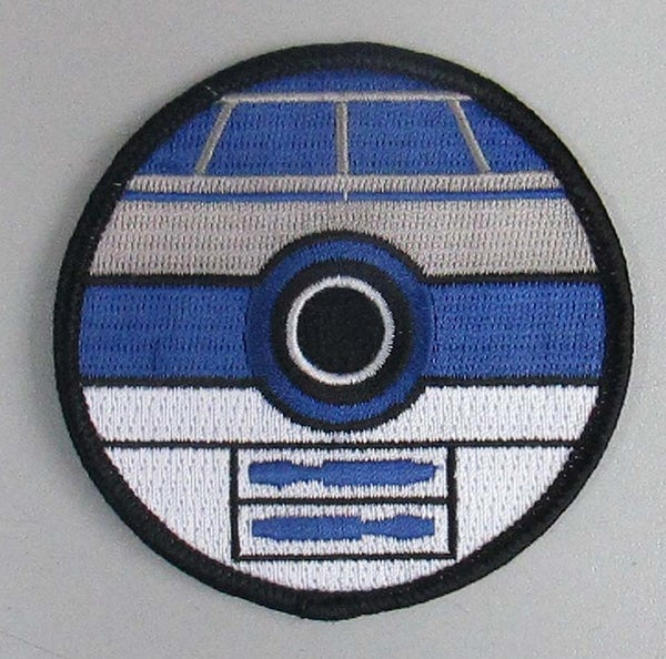"Image of R2D2 Pokeball / Star Wars Style 3"" Patch"