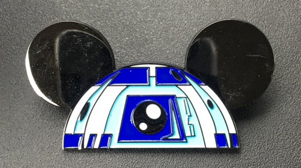 "Image of R2 Ears 2"" wide lapel pin"