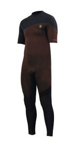 Image of Cortez Zipperless 2/2 <br />  Taped Long Arm Springsuit <br /> Black Earth
