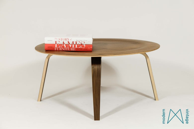 Image of Eames coffee table CTW New Herman Miller Walnut