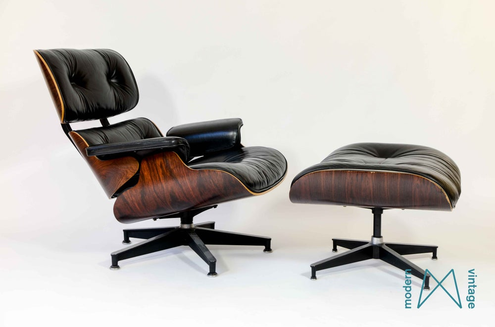 Modern vintage amsterdam original eames furniture eames rosewood lounge c - Lounge chair eames prix ...