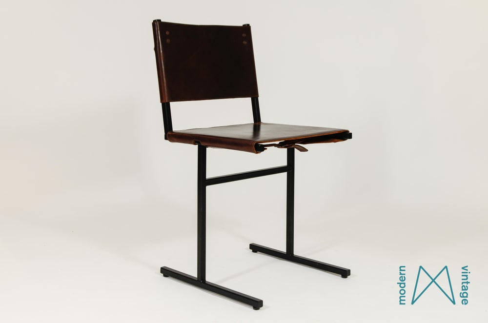 Image of Memento chair WDSTCK leather with steel