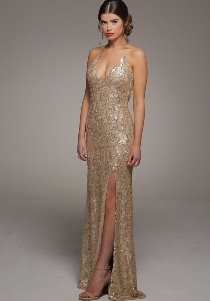 Image of The Gia Dress Gold