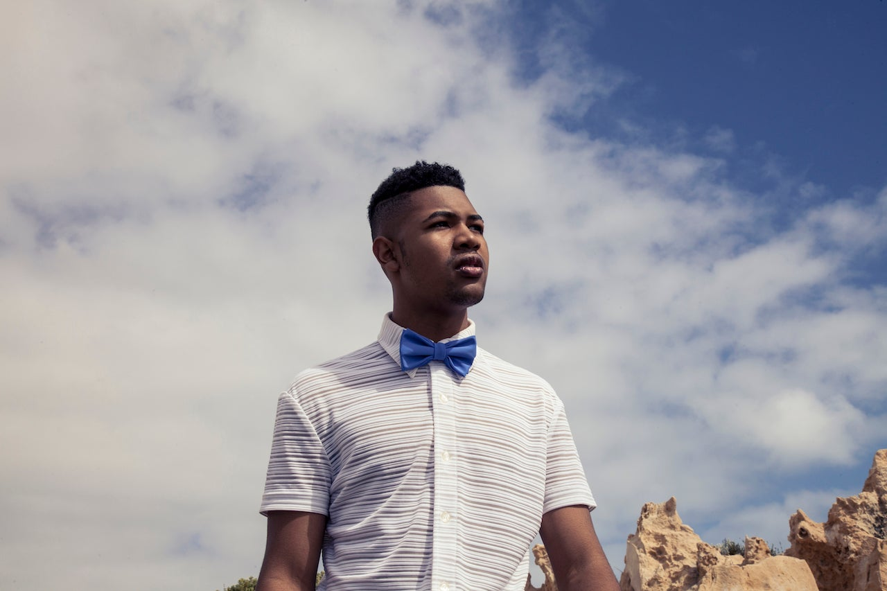 Image of Men's Sailor Blue Re-generated  Polyester Bow Tie