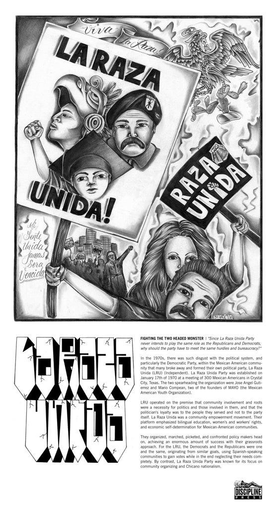 Image of LA RAZA UNIDA POSTER - BLACK FRIDAY SALE