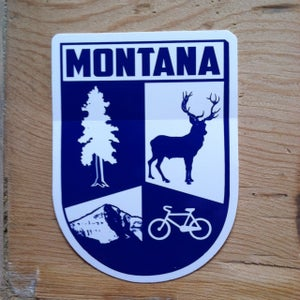 Image of NEW! Montana Crest Sticker