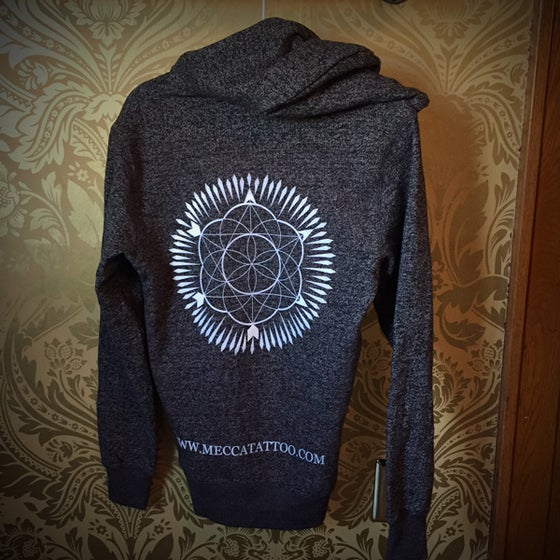 Image of Circle Design Zip Up Hoodie