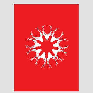 Image of Reindeer Snowflake Christmas
