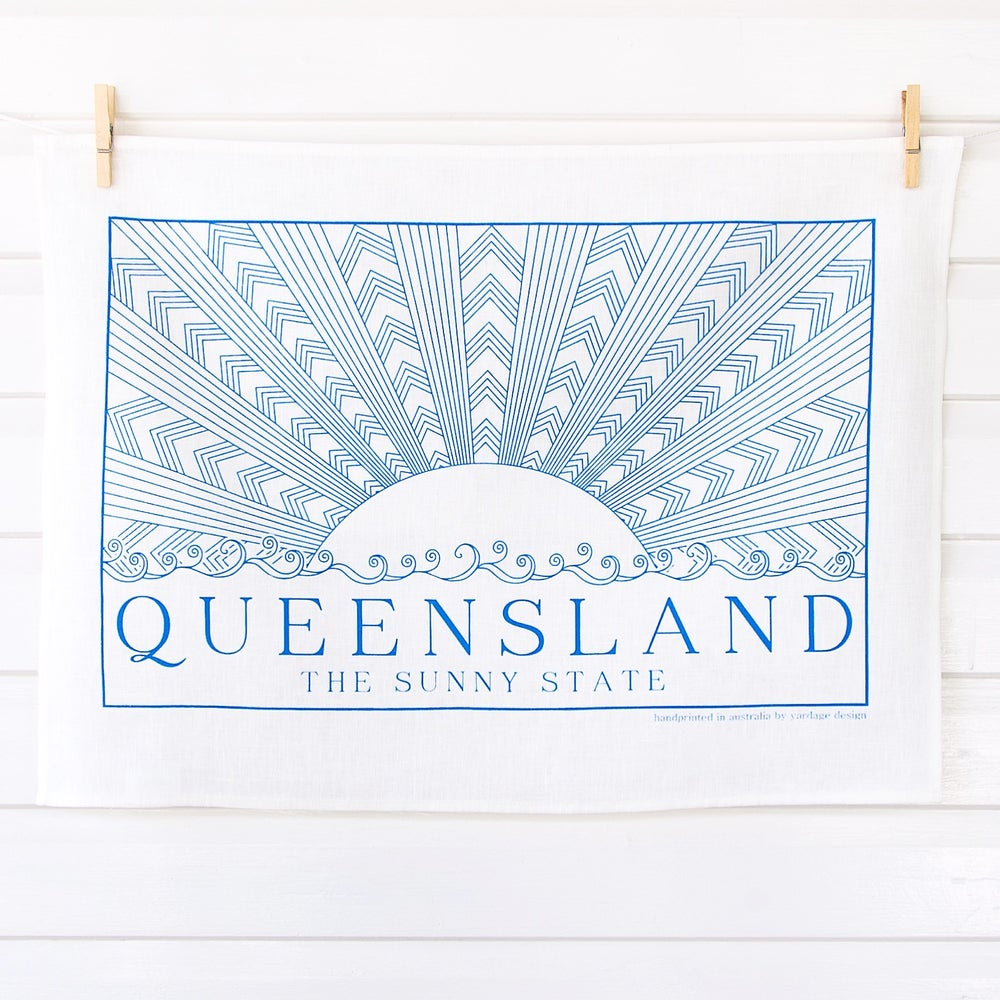 Image of Sunny State Tea Towel {assorted colours}