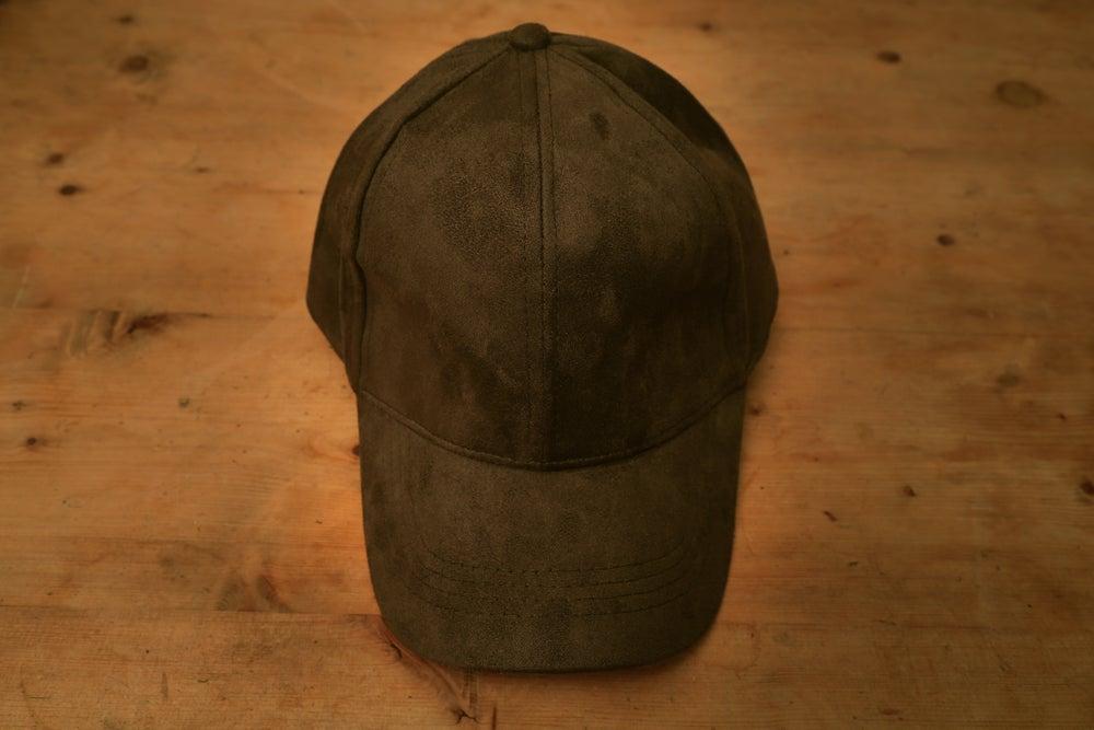Image of Suede Cap - Khaki
