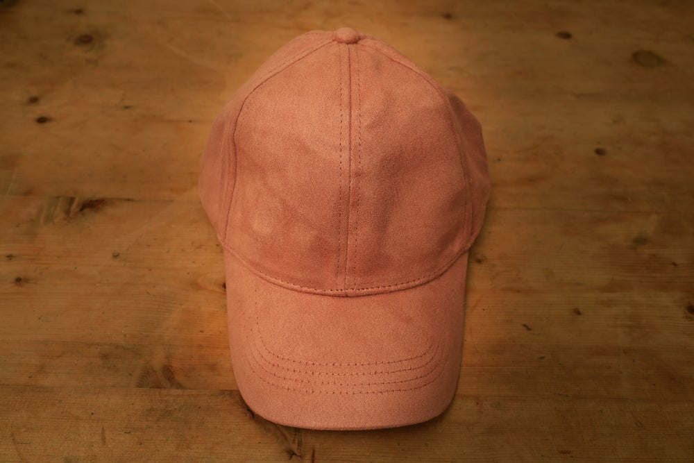 Image of Suede Cap - Candy Pink