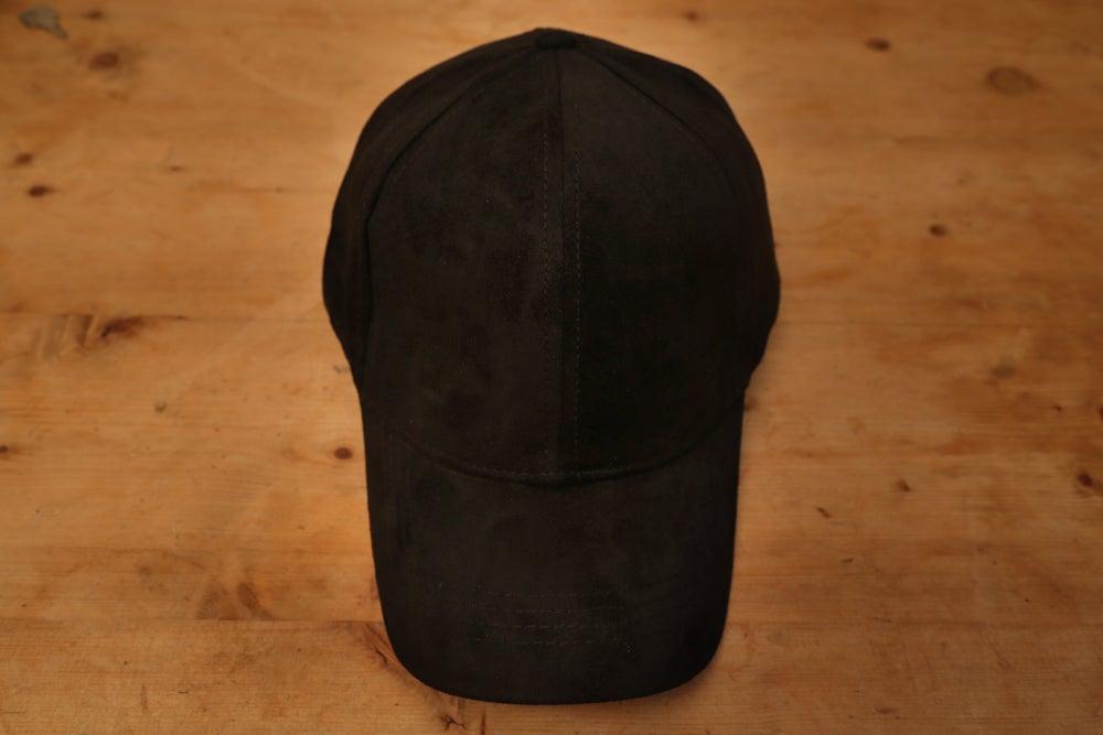 Image of Suede Cap - Jet Black