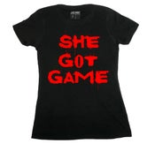 "Image of LIKE MIKE ""SHE GOT GAME"" Blk/Red"