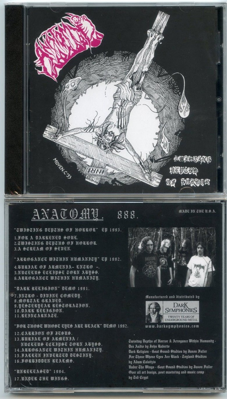 """Image of ANATOMY - """"TWISTING DEPTHS OF HORROR """" DISCOG CD 1990 -1994 OUT NOW !!"""