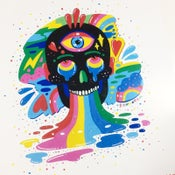 Image of Black rainbow Skull by Ms Wearer