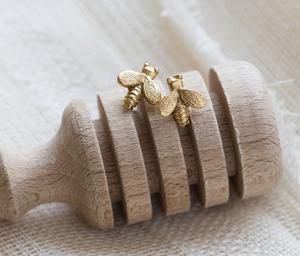 Image of Tiny Honey Bee Stud Earrings