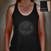 Image of Apathy Ladies Tank Tee - Dark Charcoal Heather Grey