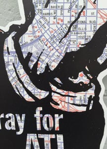 Image of Pray for ATL map junior cut out print!