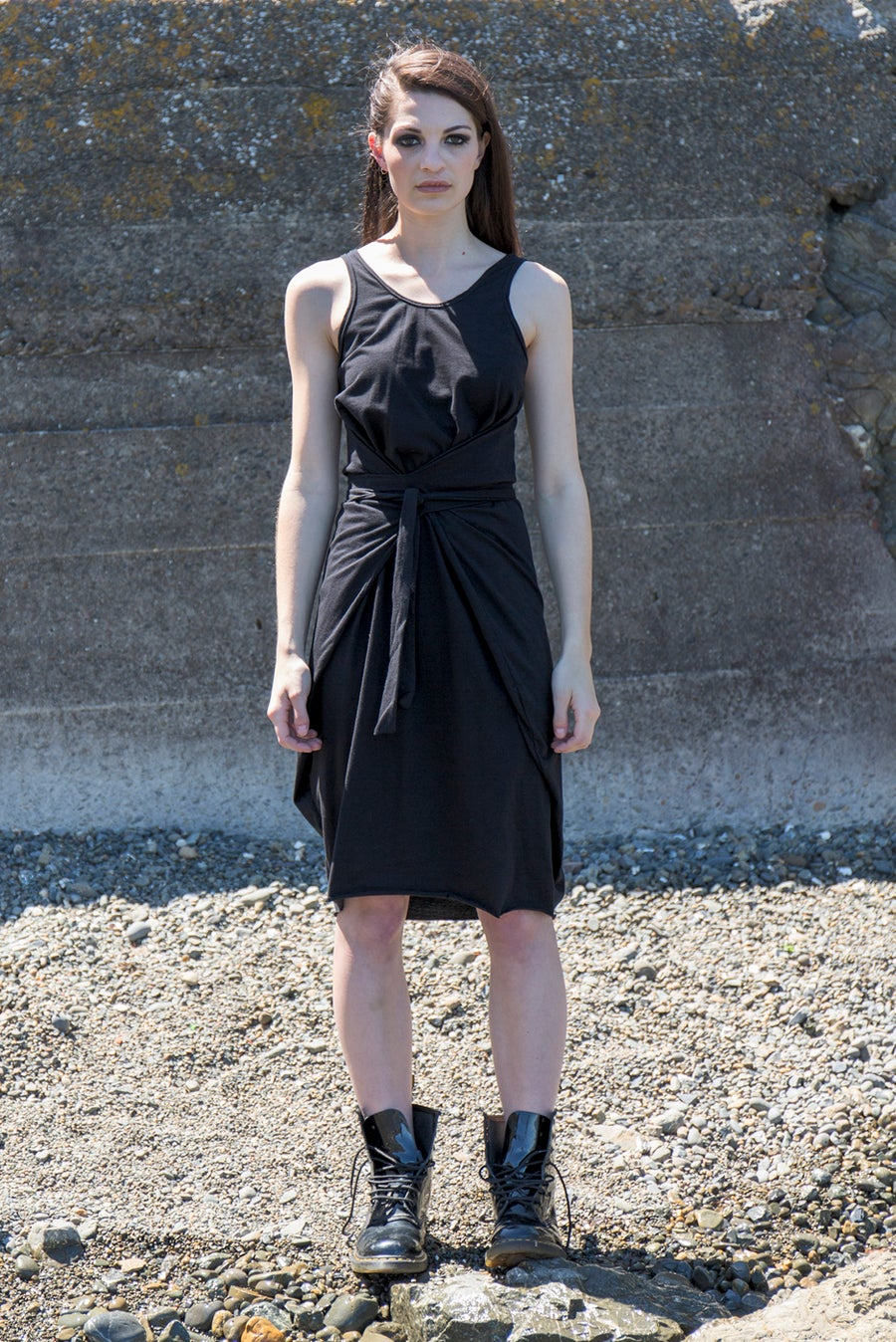 Image of The Summer Ribb Dress - Organic Black Cotton