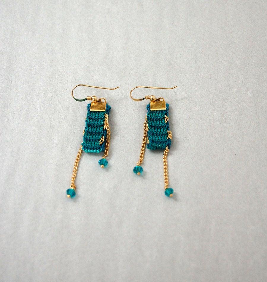 Image of Jewel Colours One Pixel Swarovski Earrings