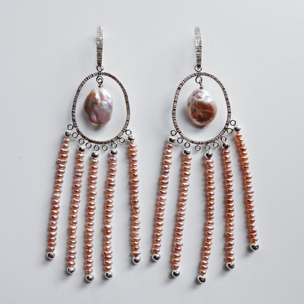 Image of Amilla Earrings (Silver/Purple Pearl)