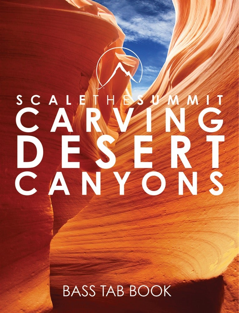 """Image of """"Carving Desert Canyons"""" - Bass Tabs • Print"""