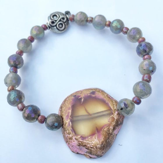 Image of Twin Soul Transformation ~ Agate and Aurora Borealis Labradorite