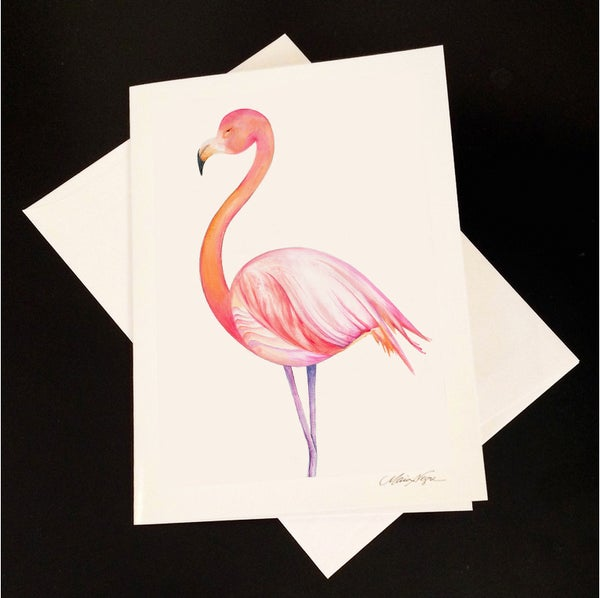 Image of Flamingo 5-Pack Greeting Card Set