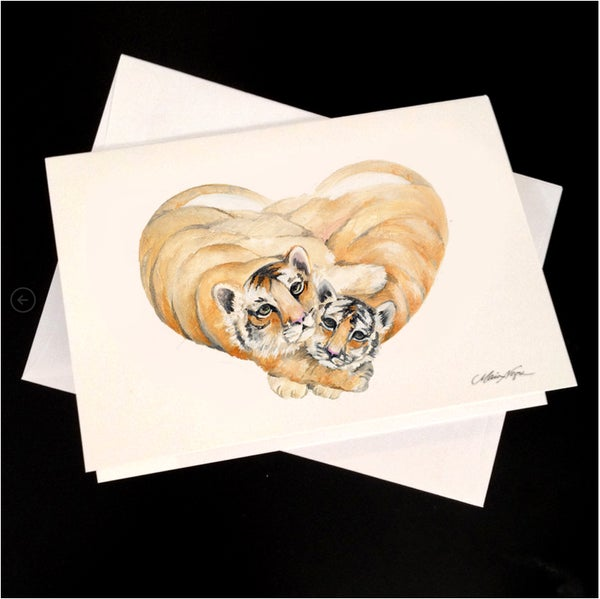 Image of Baby Tigers 5-Pack Greeting Card Set