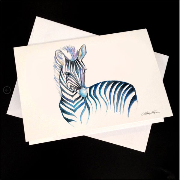 Image of Zebra 5-Pack Greeting Card Set