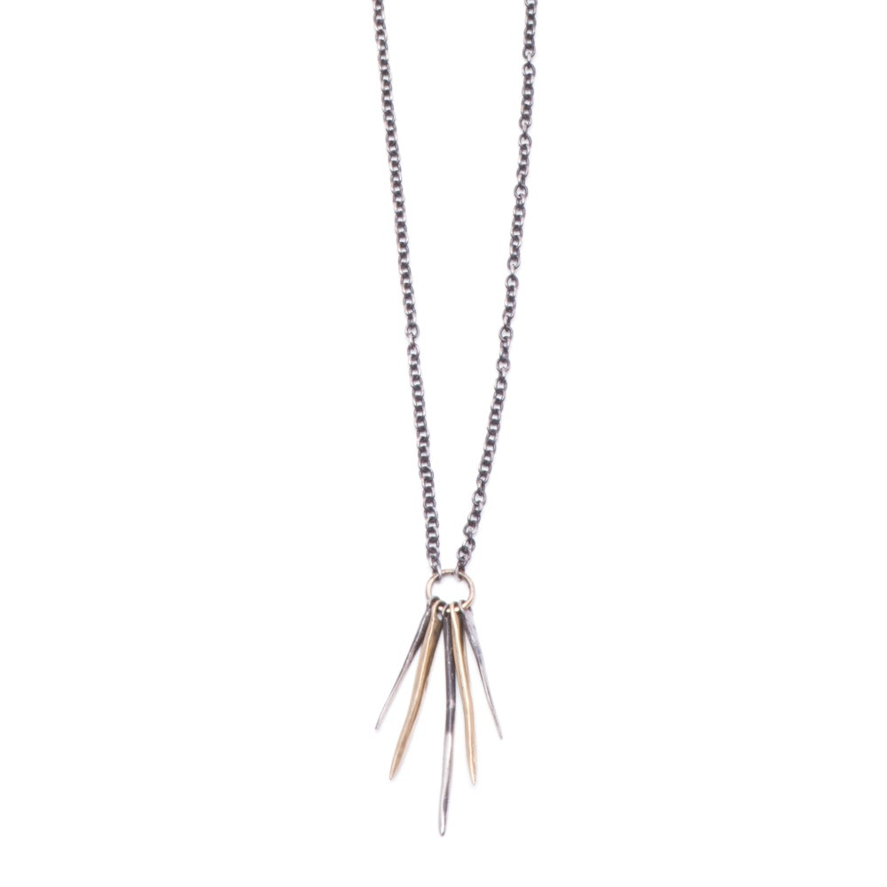 Image of five-spike necklace (P128silbra2028)