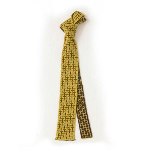 Image of T Cross Tie - Yellow x Chocolate