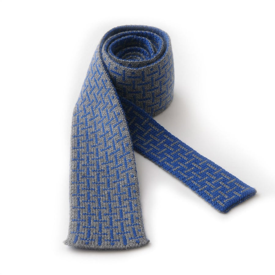 Image of T Cross Tie - Grey x Blue