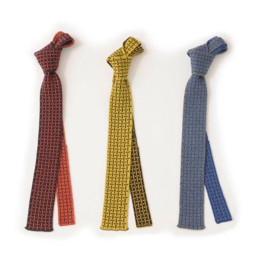 Image of T Cross Tie - Grey x Blue