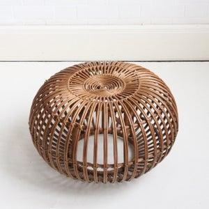 Image of Wicker lobster pot foot stool