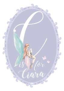 Image of Purple Fairy Initial Print