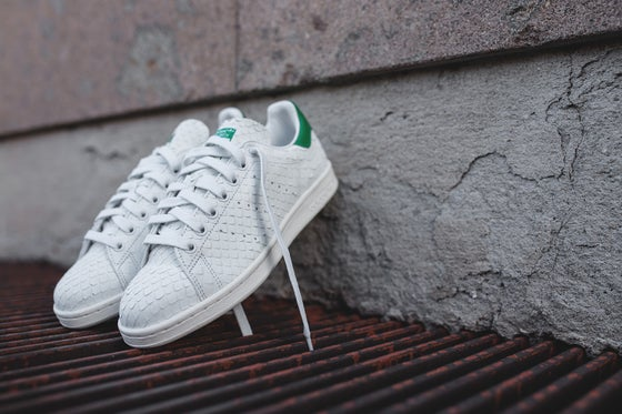 Image of ADIDAS STAN SMITH W CRYSTAL LEATHER WHITE GREEN