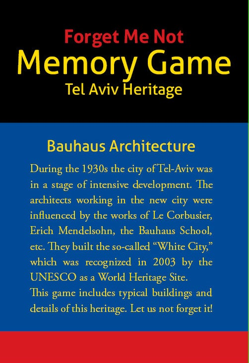 "Image of ""Forget Me Not"" Bauhaus Memory Game"