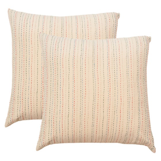 Image of Pair of Hand Stitched Pillows