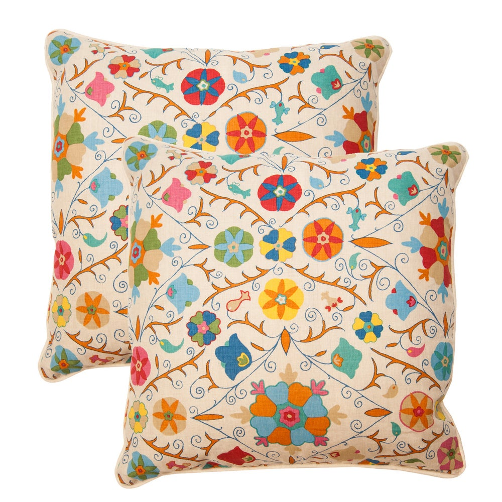 Image of Pair of Safi Suzani Pillows