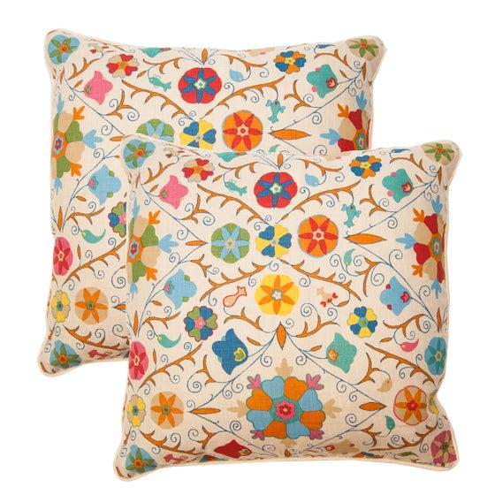 Image of Pair of Safi Suzani Pillows