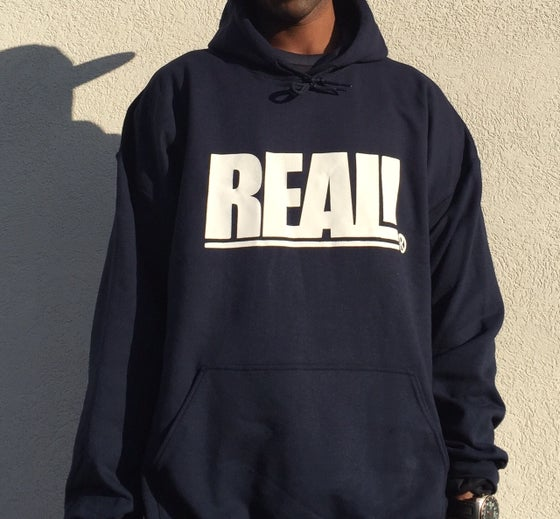 Image of REAL! NAVY HOODIE