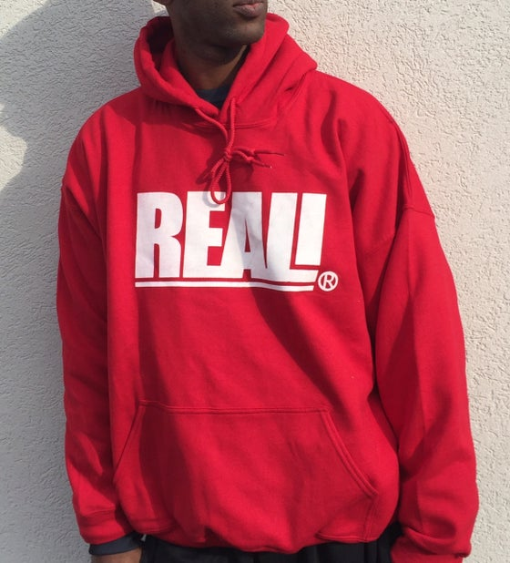 Image of REAL! RED HOODIE