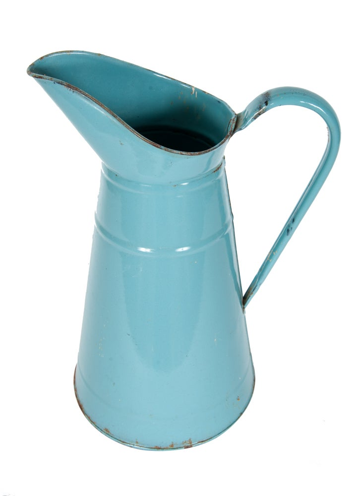 Image of French Blue Iron Pitcher