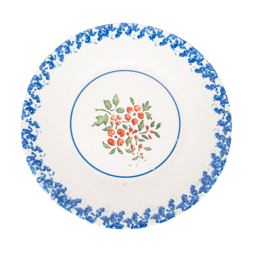 Image of 18th century diner plate from Southern France