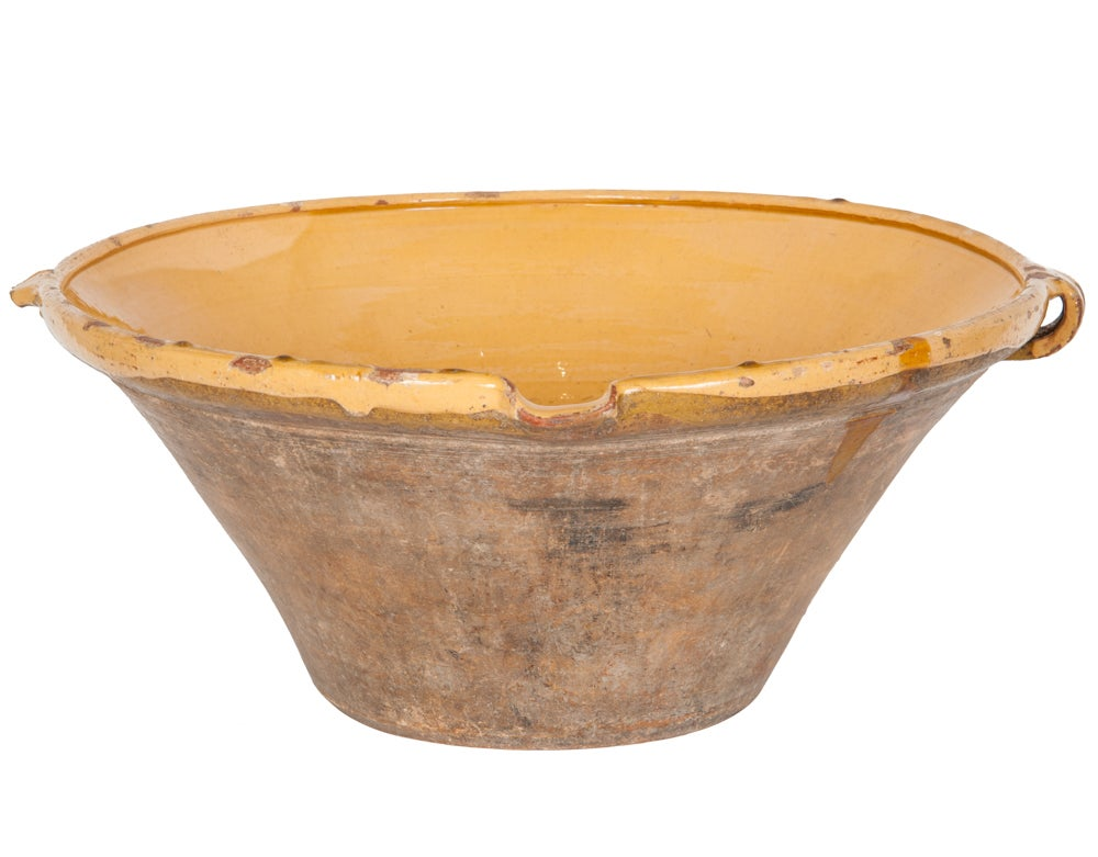 Image of Yellow French 19th century bowl